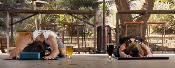 Yoga trends - øl yoga