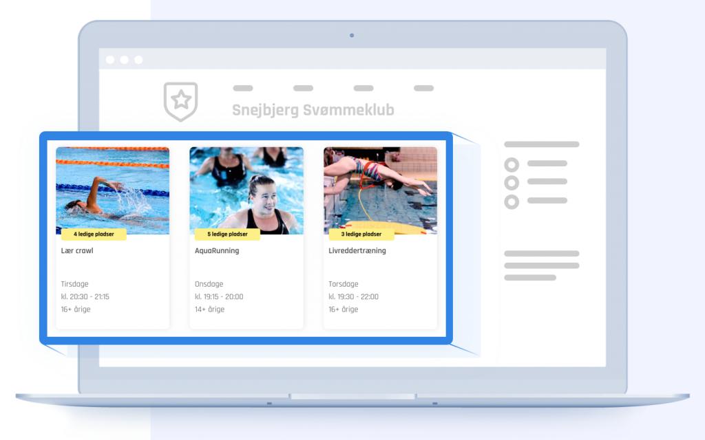 Digital tilmelding - jeres prøvetræninger på motivu.dk integreres på jeres hjemmeside